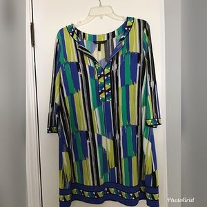 BCBG multi color shift dress
